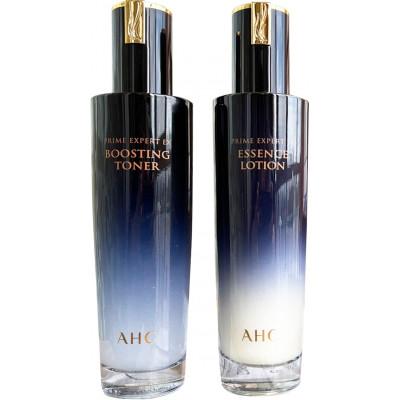 Антивіковий тонер-бустер з пептидами AHC Prime Expert EX boosting toner, 130 мл + AHC Prime expert EX Essence lotion, 130 мл.