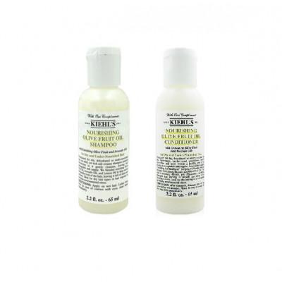 Питательный шампунь для сухих волос с маслом оливы Olive Fruit Oil Nourishing Shampoo 65мл + кондиционер 65мл