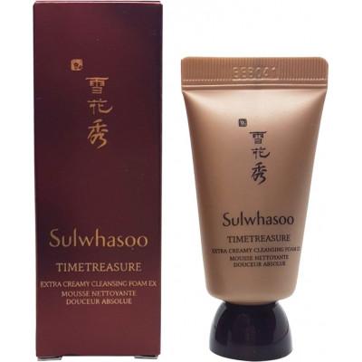 Пенка для умывания  Sulwhasoo Timetreasure Extra Creamy Cleansing Foam 15мл